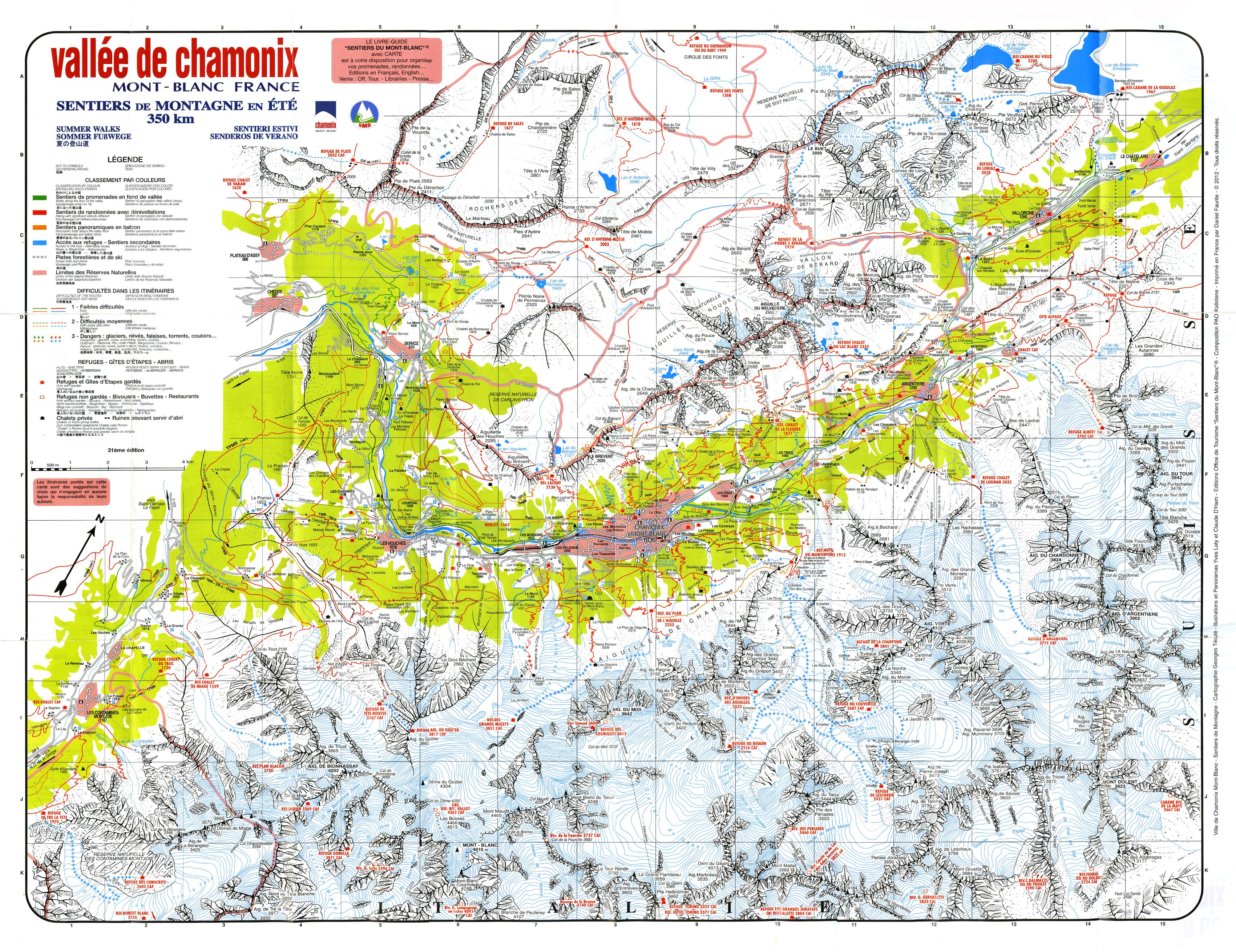 Долина шамони подробная карта